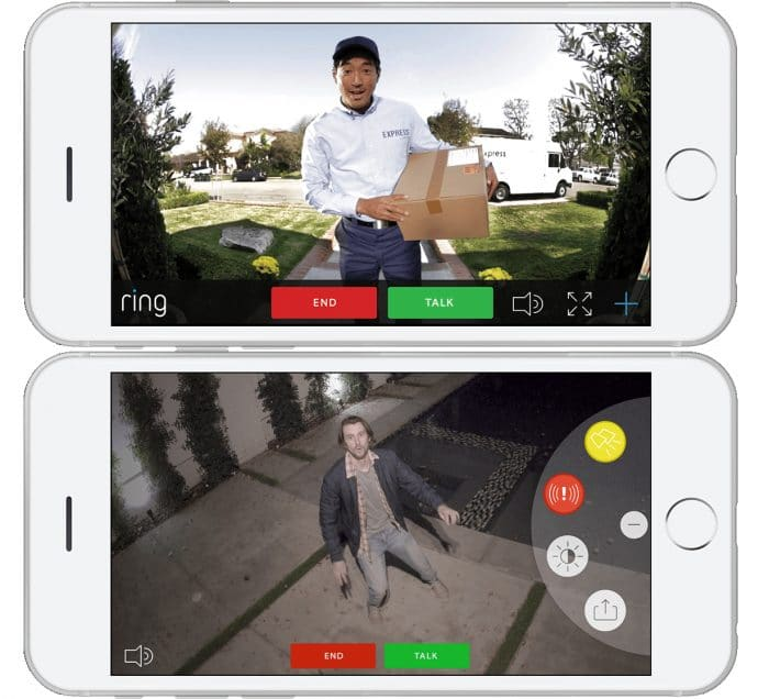 Ring Video Doorbell Pro app UI