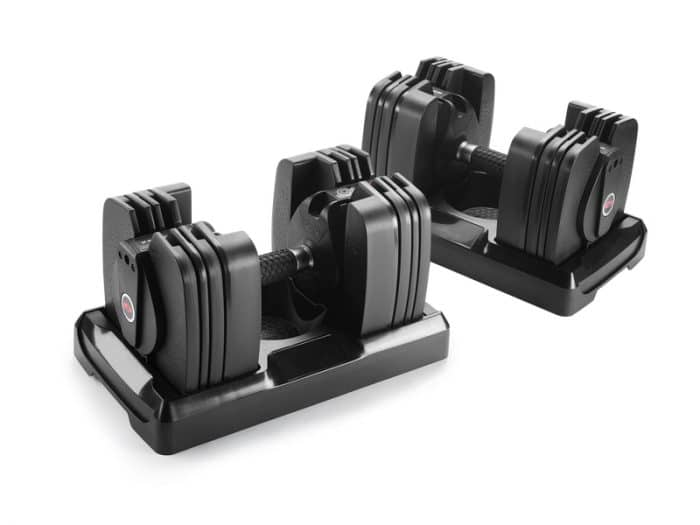 Bowflex smart dumbbells smart gym gadgets