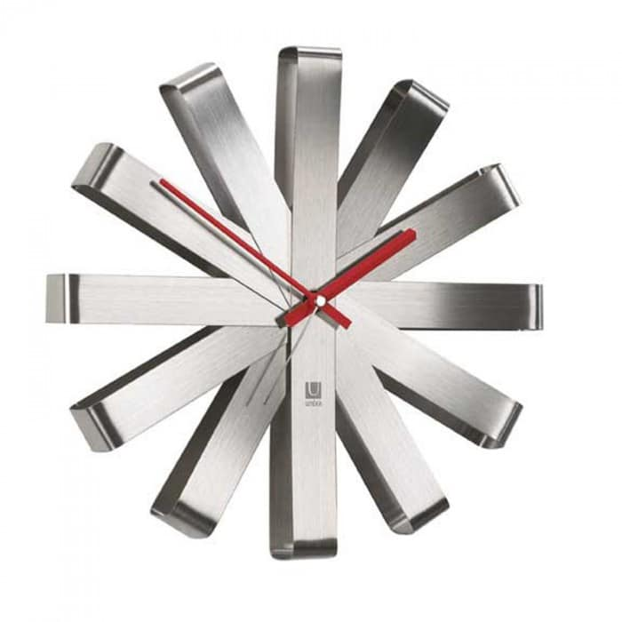 umbra stainless wall clock