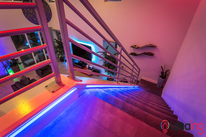 philips hue lighting stairs
