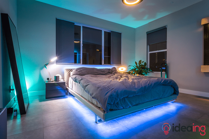 7 ideas to use philips hue lightstrips philips hue lighting bed aloadofball Gallery