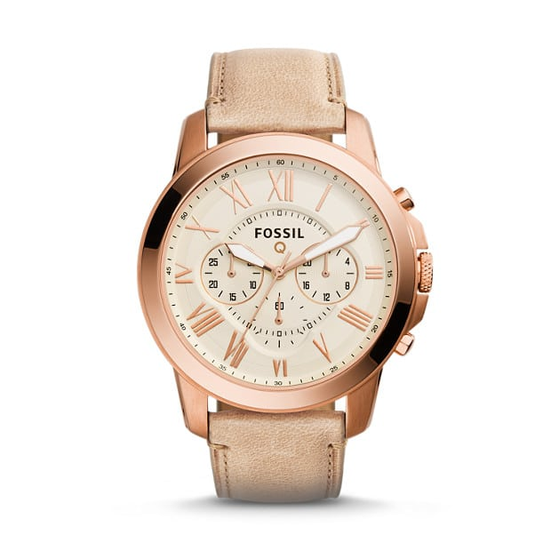 Fossil Q Grant Sand Leather Hybrid Smartwatch