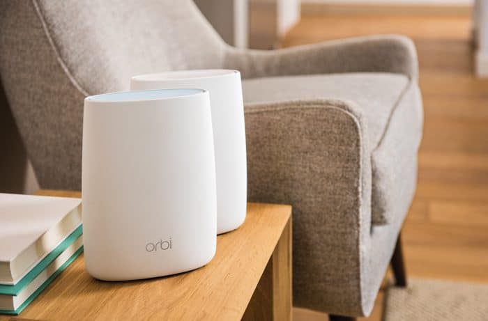 Orbi in living room
