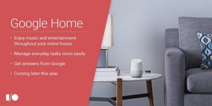 google home smart speaker specs