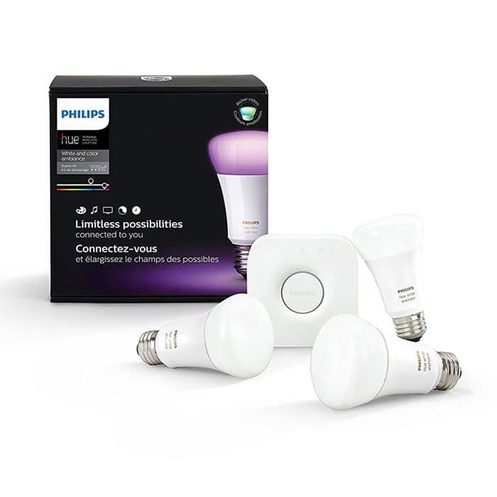 Philips Hue 464479 White and Color Ambiance A19 Starter Kit