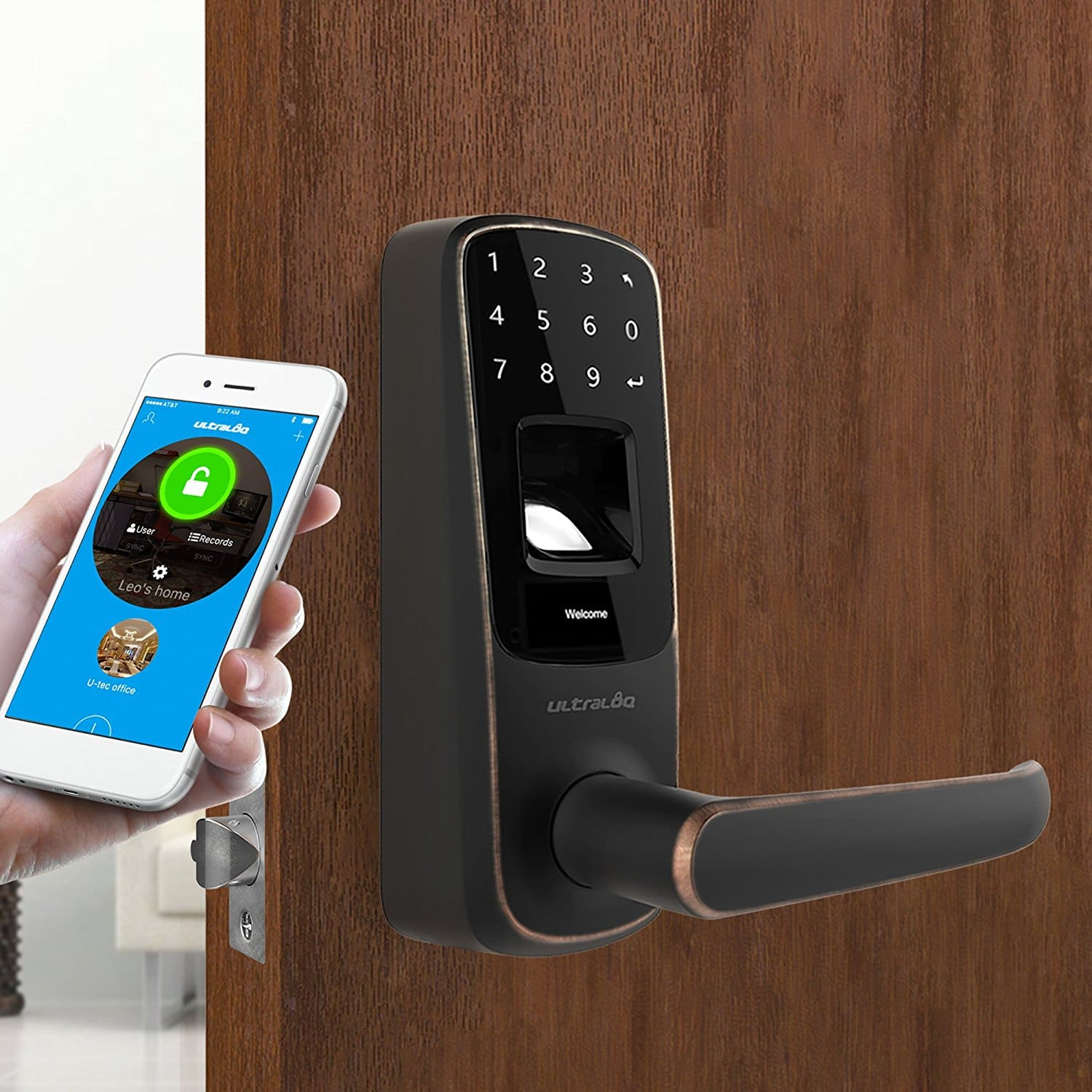 Best Smart Door Locks to Buy: Ultraloq UL3 BT Bluetooth Smart Lock