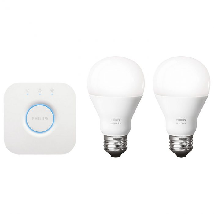 Philips 456210 Hue White and Color Ambiance A19 Bulb Starter Kit 2nd Generation