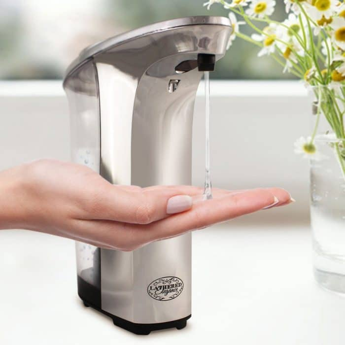 Premium Automatic Touchless Soap Dispenser by Lathered Elegance