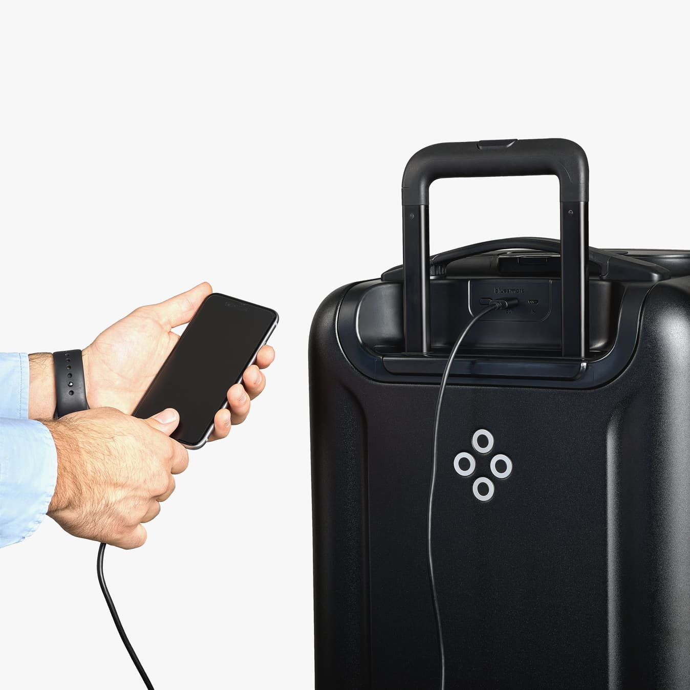 Smart Luggage with Battery Charger