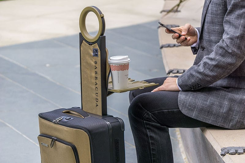 Smart Luggage with built-in work station