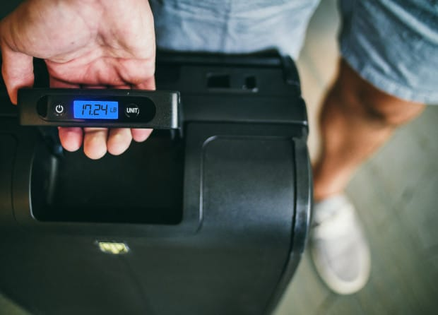 Smart Luggage with Built In Weighing Scale