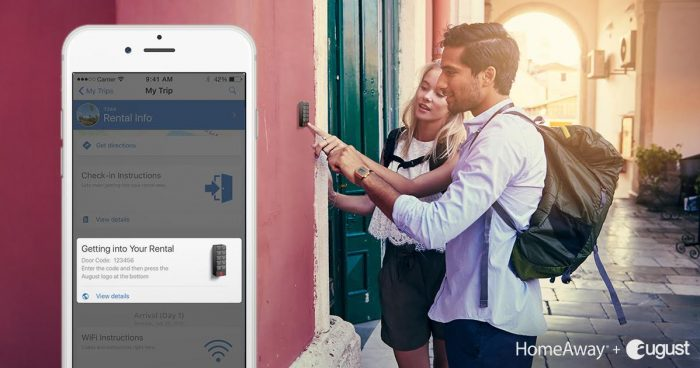 August and HomeAway partnership