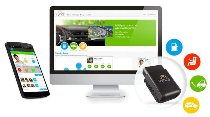 VYNCS Pro No Monthly Fee Connected Car OBD