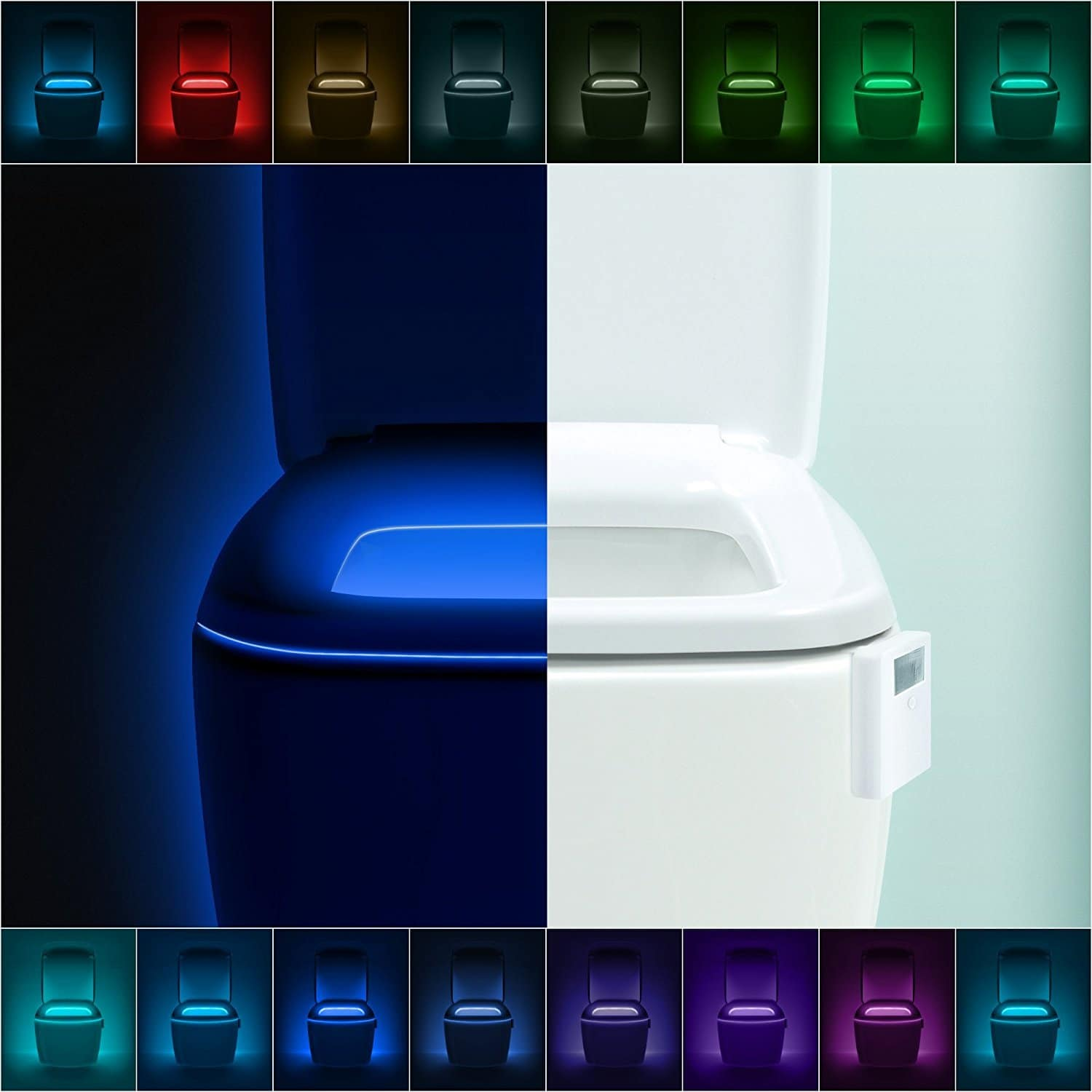 LumiLux Motion Sensor LED Toilet Light