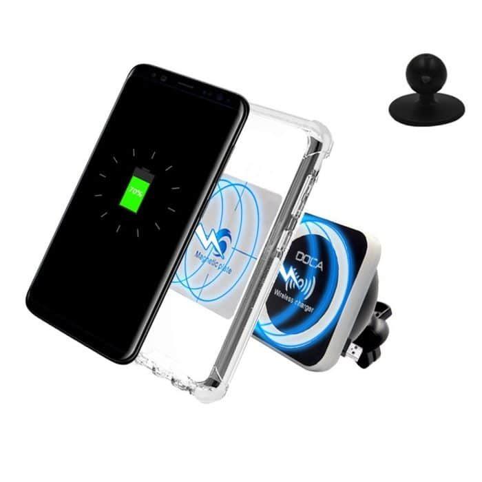 DOCA Qi Wireless Car Charger Mount Holder