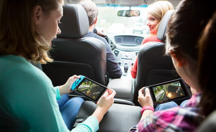 nintendo switch in the car