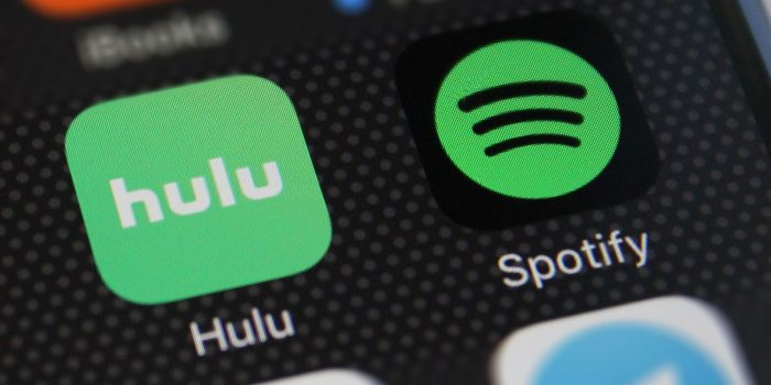 Hulu and Spotify streaming bundle icons