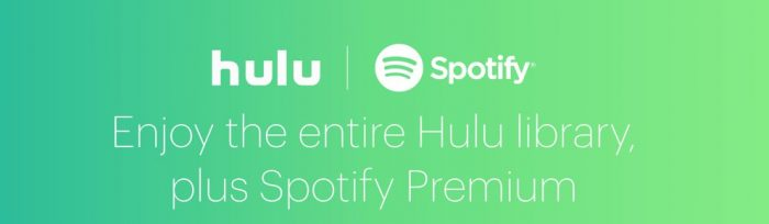Hulu and Spotify streaming bundle promo
