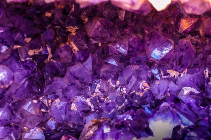 purple-synthetic-crystals-growth
