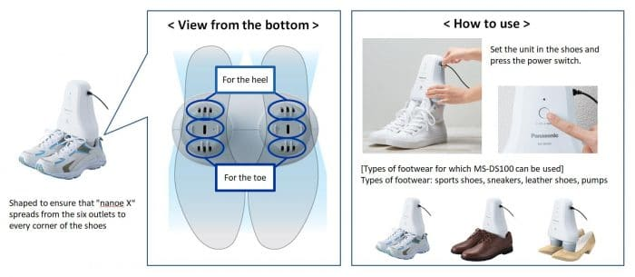 panasonic shoe deodorizer instructions