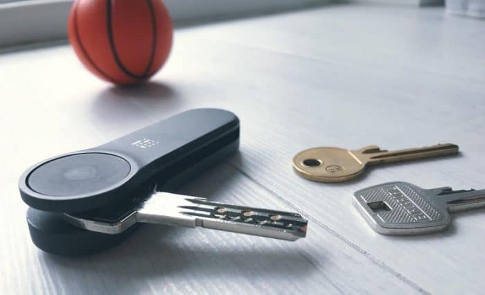 locky smart key system on table