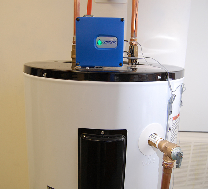 Aquanta networked water heater controller for Smart Garage