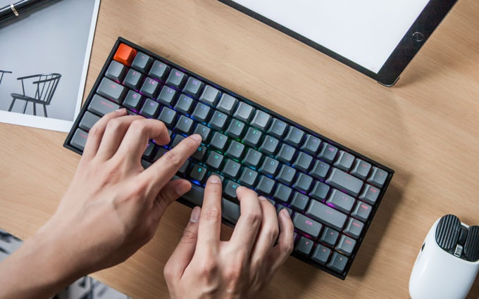 keychron k2 mechanical keyboard top down