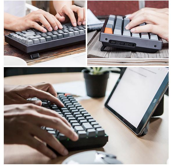 keychron k2 mechanical keyboard multiple angles