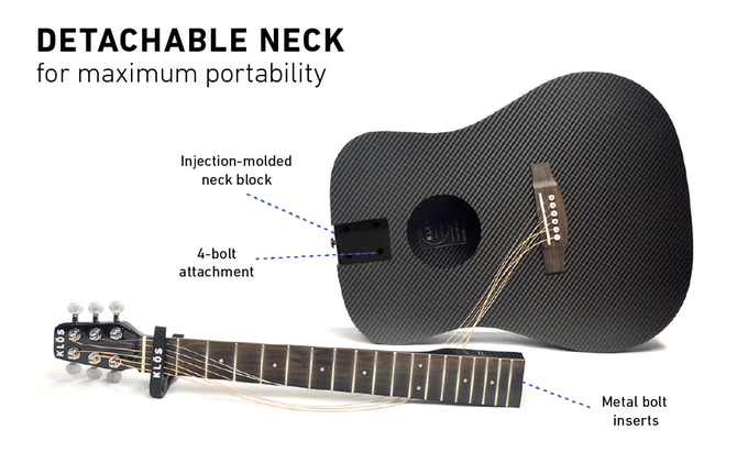 klos guitar detachable neck