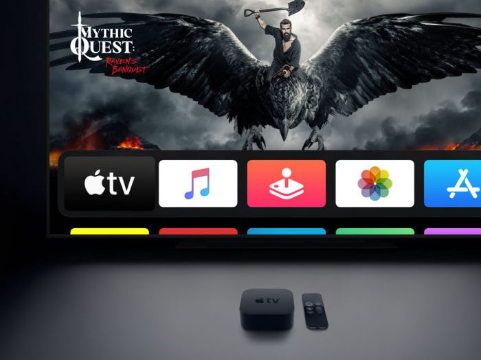 Apple TV streaming device